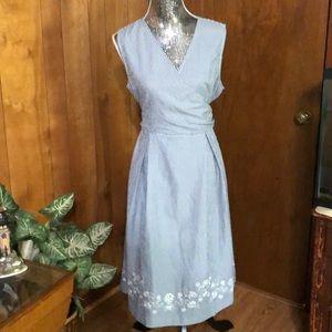 Sandra Darren Seersucker Dress